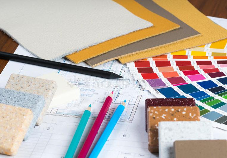 el-proyecto-interior-con-la-paleta-muestras-materiales-dibujó-lápiz-57495012
